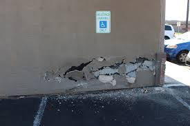 the west facing wall at evans hairstyling college in st george after a toyota ran into it monday st george utah aug 7 2017 photo by ric wayman