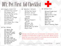 pet first aid checklist
