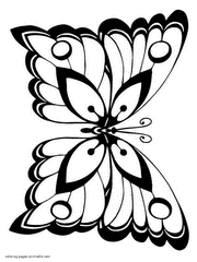 Great black and white clipart images large enough to color. Butterfly Coloring Pages Free Printable Pictures For Kids