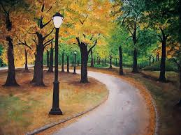 landscape painting central park by rita hiotis