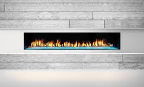 heat glo primo 72 gas fireplace crystal glass black glass interior 4c