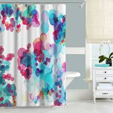 purple blue and green shower curtain abstract watercolor turquoise 6