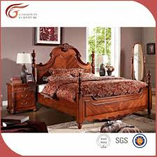 Antique American Style Solid Wood Bedroom Set, Bed A58, Bedroom Furniture,  Made In
