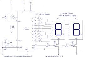 interfacing seven segment display led to micro controller mutiplexing seven segment display