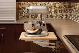 a kitchenaid mixer or other heavy kitchen appliance can be lifted with ease to countertop level