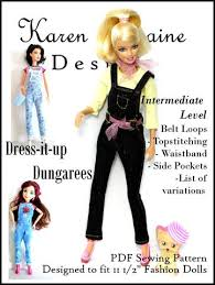 Barbie Doll Clothes Patterns Impressive Barbie Doll Clothing Patterns On Pixie Faire