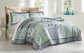 Cannon 3-Piece Quilted Bedding Set - Floral Print - Home - Bed ... & Cannon 3-Piece Quilted Bedding Set - Floral Print - Home - Bed & Bath -  Bedding - Quilts & Coverlets.
