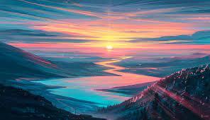 1336x768 Sunrise Landscape HD Laptop ...