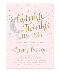 Twinkle Twinkle Little Star Girl Baby Shower Or Sprinkle Invitation