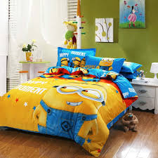 bed sheets for kids. 100%cotton Minion Bedding Sets Kids Pink Bedspreads Cartoon Bedclothes Duvet Cover Set Bed Sheets King Queen Twin Size-in From Home \u0026 Garden On For G