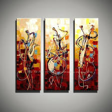 vertical art knife painting canvas abstract modern 3 piece canvas wall art picture famous figure