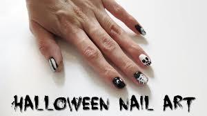 5 Halloween Nail Art Designs! Easy Black & White Nail Tutorial ...