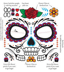 sugar skull temporary tattoo sheet