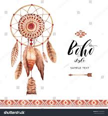Dream Catcher Card Designs Hand Drawn Style Dreamcatcher Tribal Design Stock