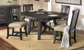 picture of modus yosemite solid pine round dining set