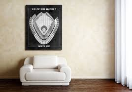 Chicago White Sox Cellular Field Seating Chart Vintage Print Of U S Cellular Field Seating Chart Chicago