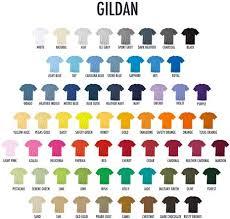 Gildan Color Chart 2016