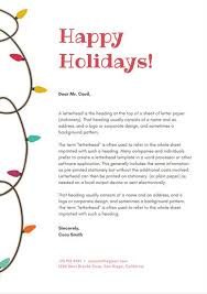 Christmas Letterhead Template White With Christmas Lights Vector Christmas Letterhead Templates
