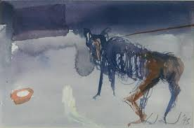 Wendy Arnold (20th Century) Tethered 1995 Gouache
