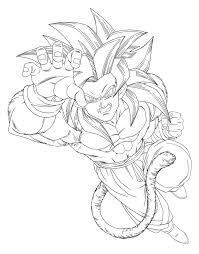 Facile Dragon Ball Gt Goku Super Saiyan 4png Coloriage Dragon