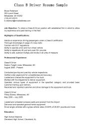 Bus Driver Resume Resume Cv Cover Letter