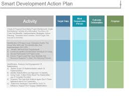 Action Plan Template Smart Development Action Plan Ppt Infographic Template