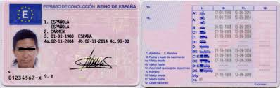 Spanish Number License Spanish Driving Driving