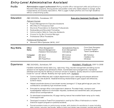 Sample Resume For Administrative Assistant Skills Resume Template Sample Administrative Assistant College Admin Pdf 22