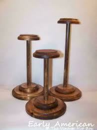 Wooden Hat Stands For Display diy hat stand styraform ball shaped to size and covered in cloth 3