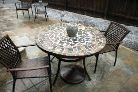 new stone top patio table for patio ideas stone top patio sets stone table top patio