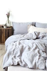light grey stone washed linen duvet cover by uk