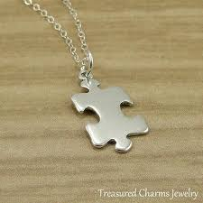 925 sterling silver puzzle piece charm