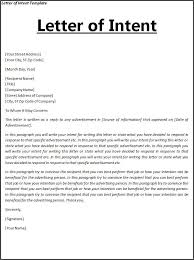 Letter Of Intent For University Amazing Letter Of Intent Template Free Word Templates Letter Of