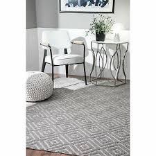 nuloom grey handmade casual diamond trellis area rug