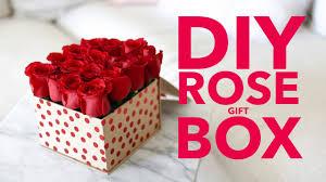 diy rose gift box