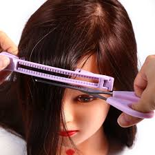 bangs hair trim comb clip diy clipper fringe cutting guide for layers styling zy
