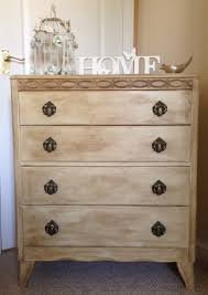 Shabby chic chest of drawers painted in Annie Sloan's cream with added dark  wax and then