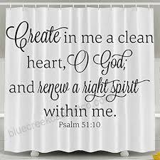 hvsaa custom waterproof bathroom clean heart hight spirit verse shower curtain polyester fabric shower