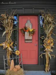 fall front door decorations19 Fall and Halloween Front Door Decorating Ideas  Home Owner Buff