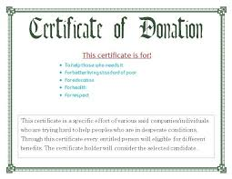 Donation Certificate Template Best Donation Certificate Template Simple Certificate Of Appreciation