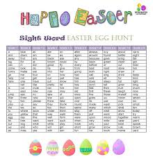word easter egg sight words easter egg hunt integrated learning strategies