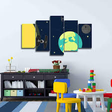 >star wars nursery decor star wars canvas art 5 pieces wall art star wars nursery decor