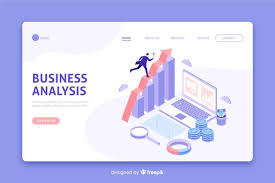 Business Analysis Software Free Download Isometric Business Analysis Landing Page Vector Free Download