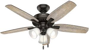 led indoor noble bronze ceiling fan with light