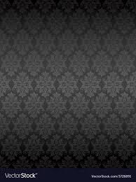 Luxury seamless black floral wallpaper ...