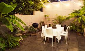 outdoor terrace lighting. View In Gallery String Lights Over An Outdoor Dining Space Terrace Lighting R