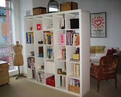 Natural Wood Room Divider Storage