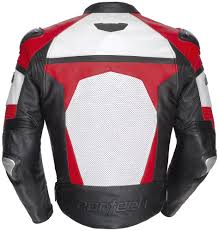 red cortech adrenaline leather jacket white red