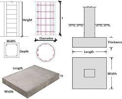 Concrete Measuring Chart Concrete Calculator Calculate Slab Beam Column Footing