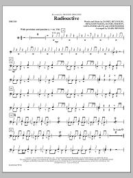 drums sheet music radioactive drums sheet music direct